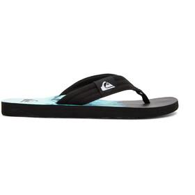 Quiksilver Molokai Layback Sandals Men, negro/Turquesa